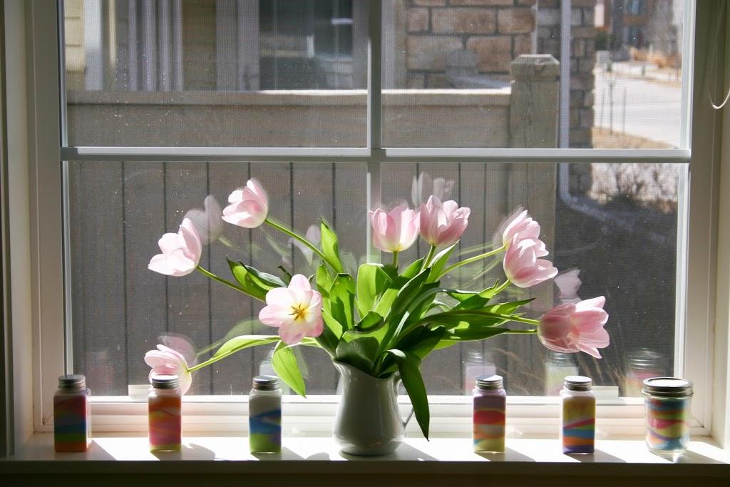 How to DIY Rainbow Colored Salt Art Jar 1