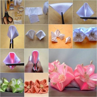 how to make satin flowers for hair
