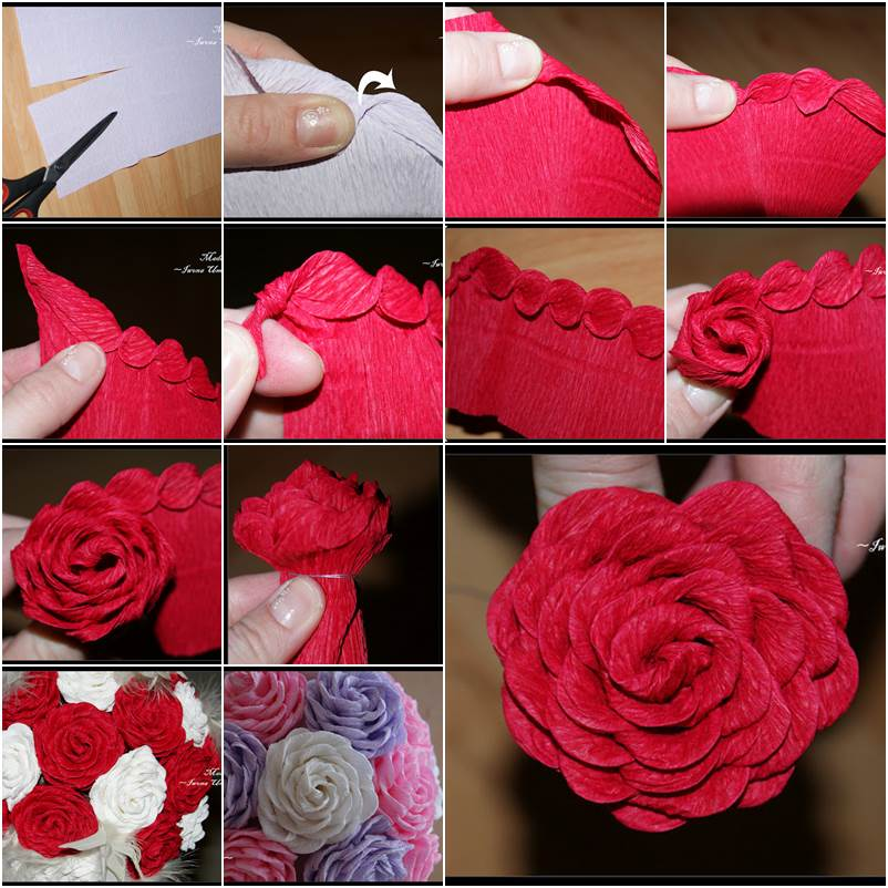 How to DIY Unique Crepe Paper Rose - photo#21