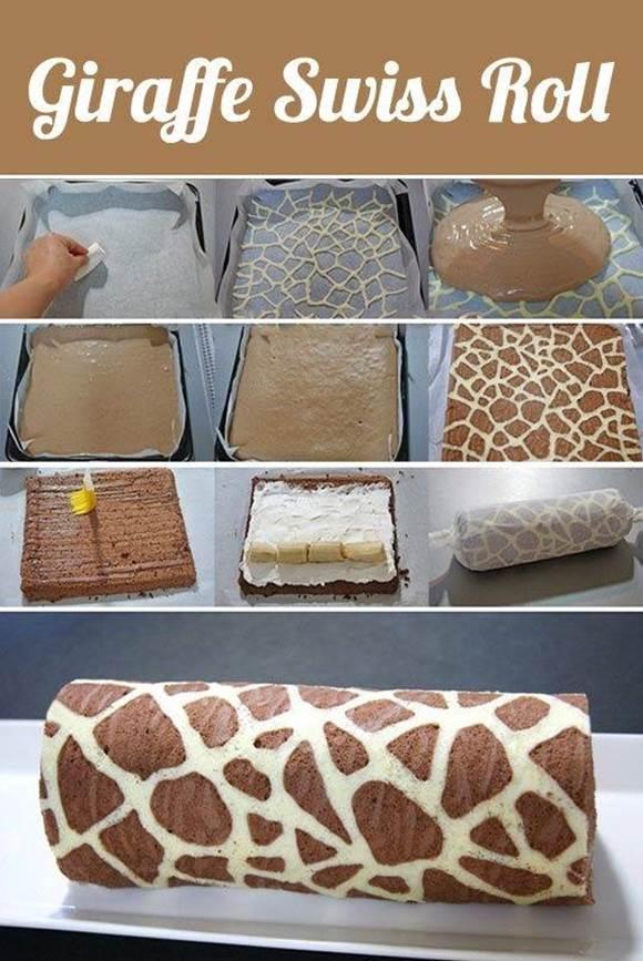 How to DIy Giraffe Pattern Swiss Roll