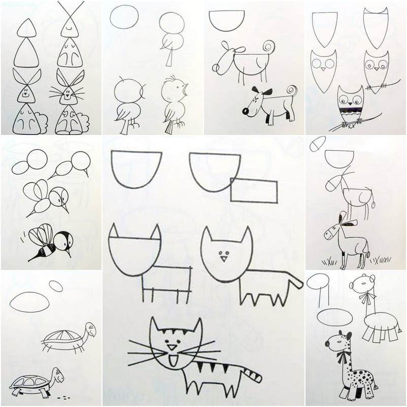 Image of: Farm How To Draw Easy Figures Getdrawingscom How To Draw Easy Animal Figures In Simple Steps