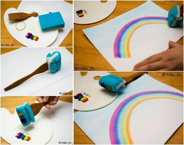 How To Draw Rainbow Easily