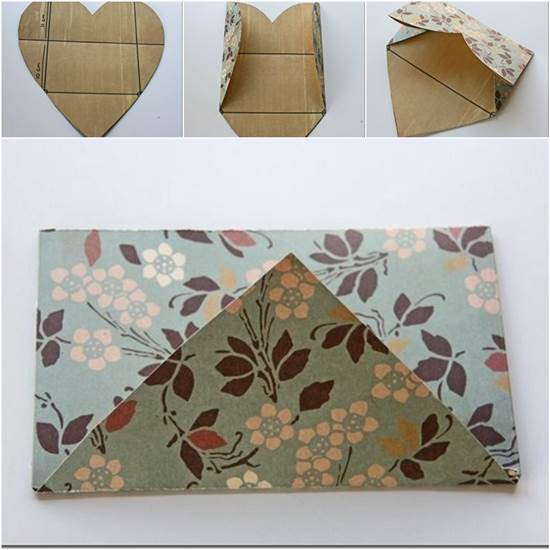 How to Fold a Cute DIY Envelope from Heart Shaped Paper