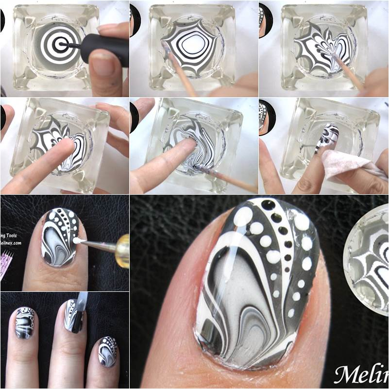 How to make amazing water marble nail art diy tutorial prinsesfo Choice Image