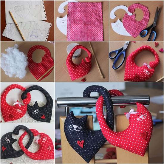 The Most Unique Pinterest Diy Home Decor And Gift Ideas: How To Make Couple Cat Plush Toys DIY Tutorial
