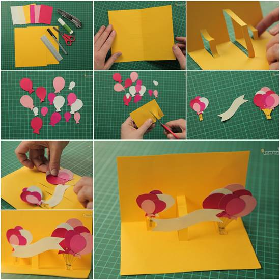 How to Make Creative 3D Birthday Card DIY Tutorial