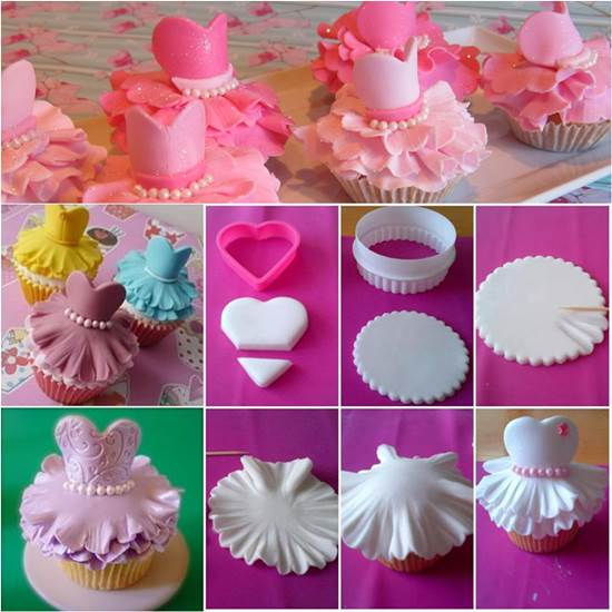 How to Make Cute Ballerina Cupcakes DIY Ideas