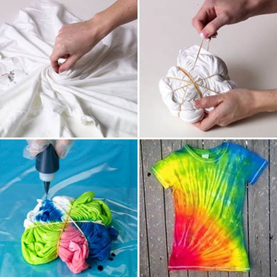 How To Make Easy Diy Tie Dye Swirl T Shirt