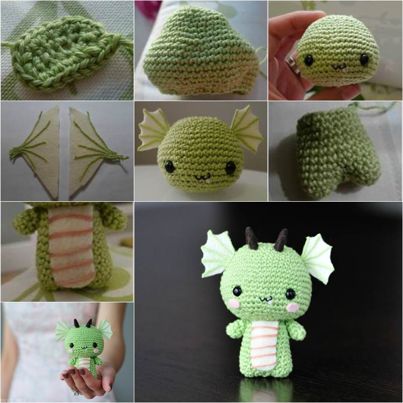 How to Make a Cute DIY Amigurumi Crochet Dragon