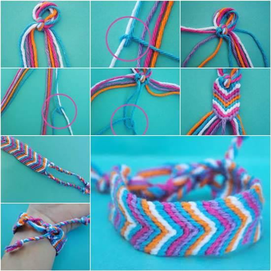 How To Make An Oversized Friendship Bracelet DIY Tutorial