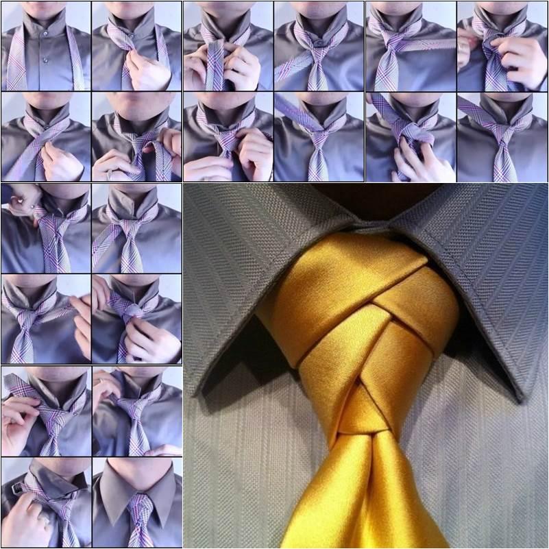 How to tie a unique necktie knot diy tutorial ccuart Image collections
