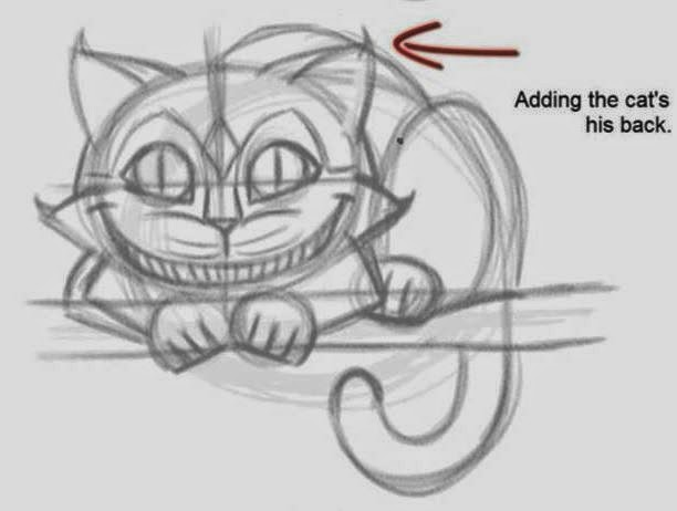 How to draw the cheshire cat 5