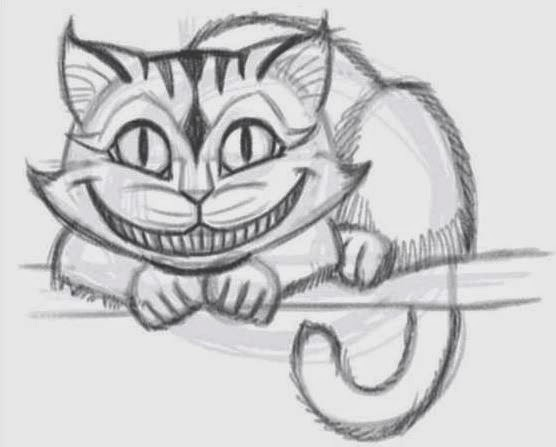 How to draw the cheshire cat 7