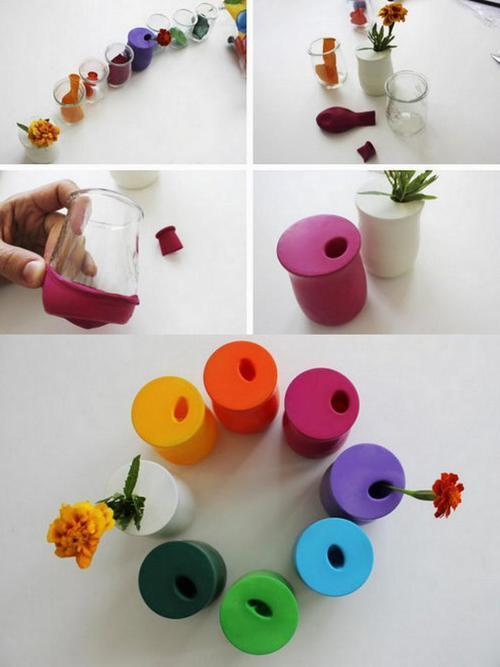 45+ Fun and Creative Ways to Use Balloons --> Balloon Flower Vase