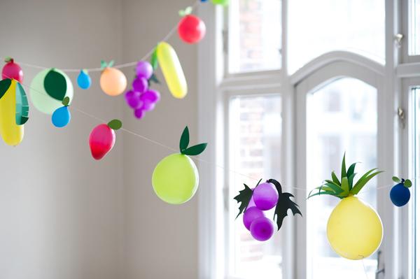 45+ Fun and Creative Ways to Use Balloons --> Fruit Balloons DIY