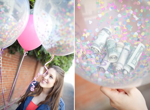 45+ Fun and Creative Ways to Use Balloons --> Money Balloons