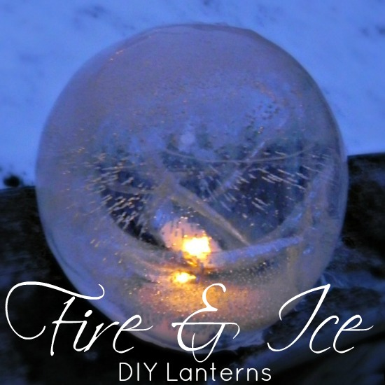 45+ Fun and Creative Ways to Use Balloons --> Use Balloon to Make Fire and Ice Lanterns