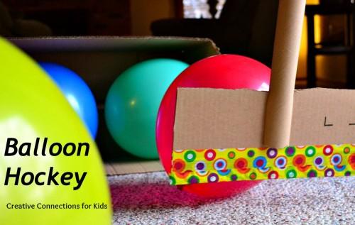 45+ Fun and Creative Ways to Use Balloons --> Balloon Hockey