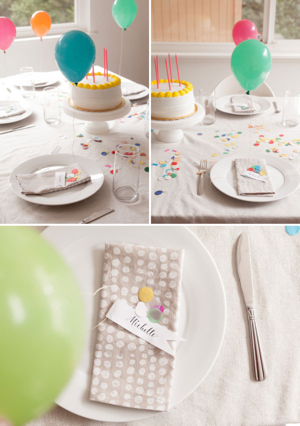 45+ Fun and Creative Ways to Use Balloons --> MINI BALLOON PLACECARDS