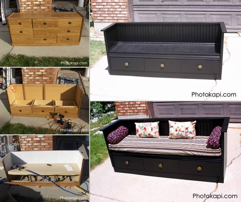 Creative Ideas How To Diy Repurpose An Old Dresser Into A Bench