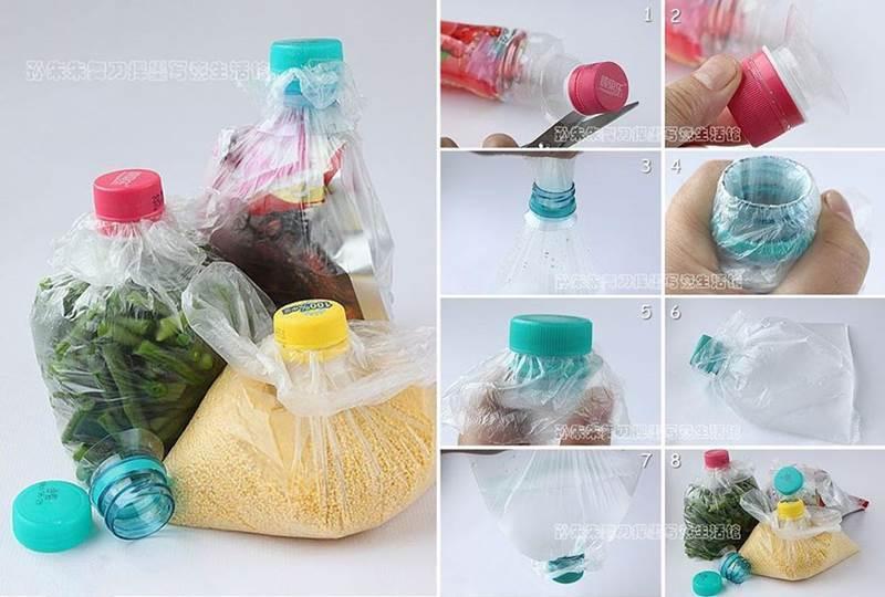 DIY How to Seal a Plastic Bag Using Plastic Bottle Cap