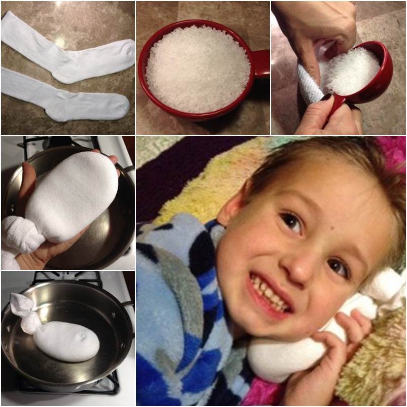 How To Make DIY Salt Sock as Natural Relief for Ear Infections