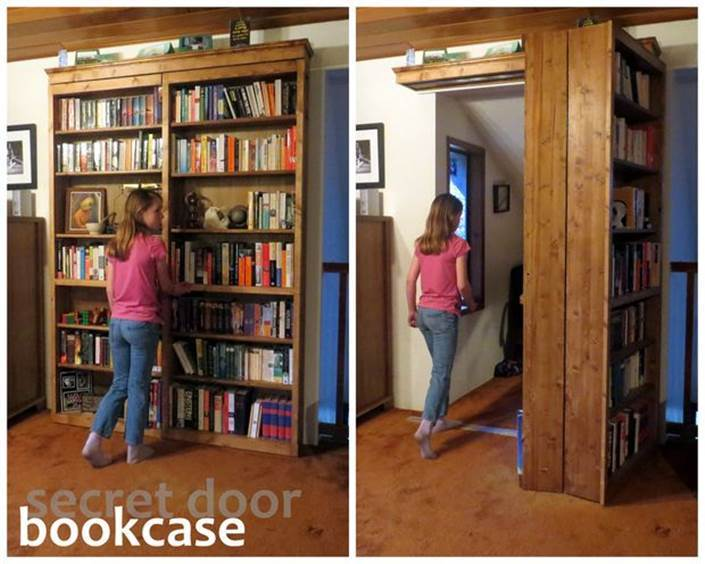 & How to Build a Creative DIY Sliding Door Bookshelf
