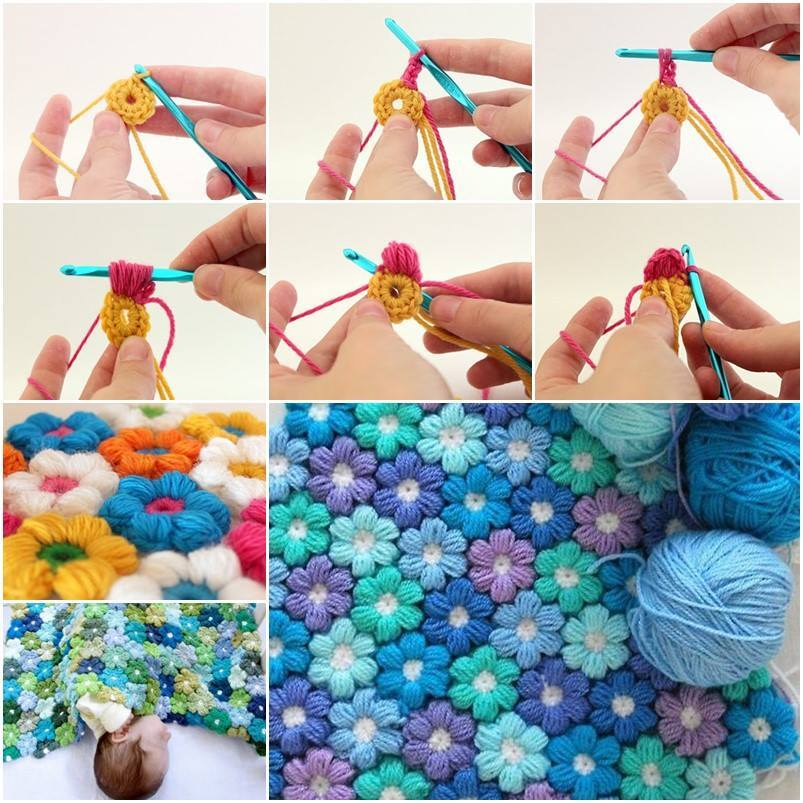 Diy Crochet Blooming Flower Cushion