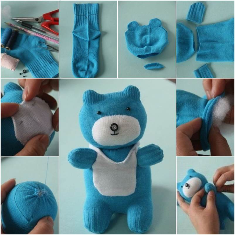 How to DIY Adorable Sock Teddy Bear