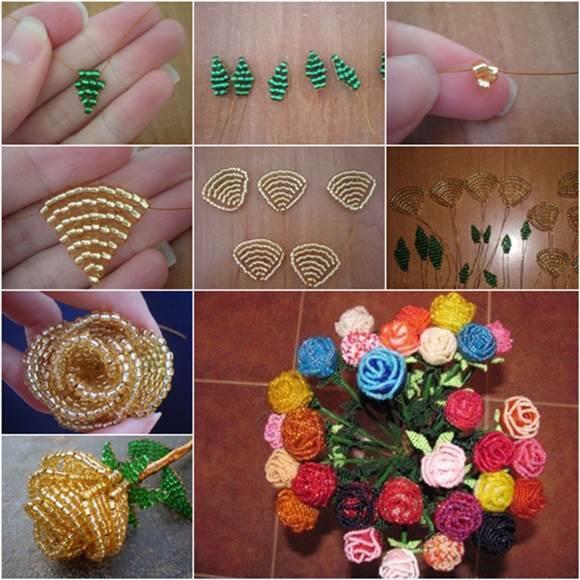 How to DIY Beautiful Beaded Rose