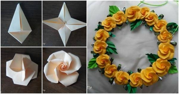 How to DIY Beautiful Origami Rose - photo#2