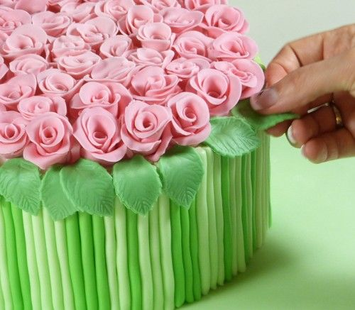 How To Diy Bouquet Of Roses Cake Decoration
