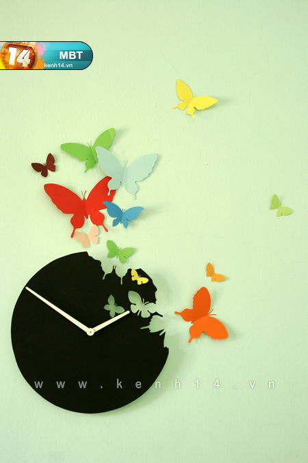 How To Diy Butterfly Clock Wall Art