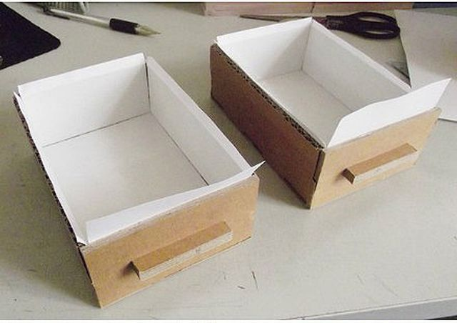 How To Diy Cardboard Desktop Organizer With Drawers