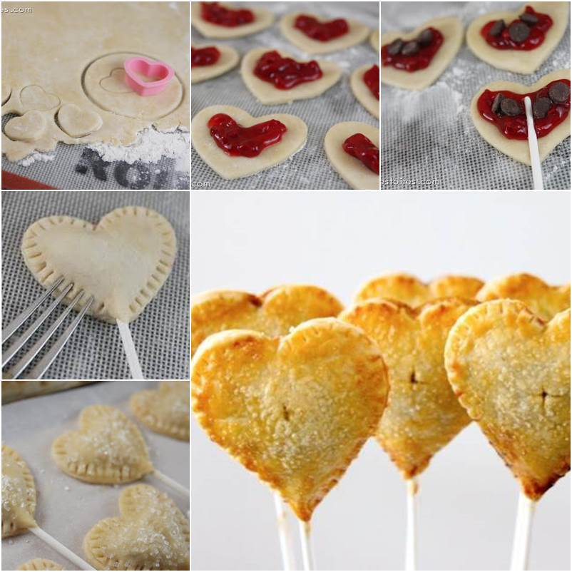 How to DIY Cherry Heart Sweet Pie Pops thumb