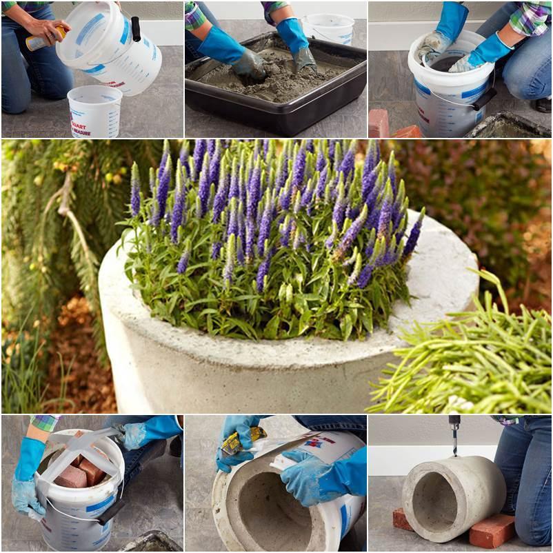 Diy Cement Planters: How To DIY Concrete Garden Planter