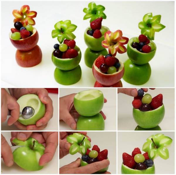 How to DIY Creative Apple Fruit Cups