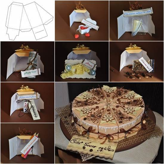 How to DIY Creative Cake Shaped Gift Boxes