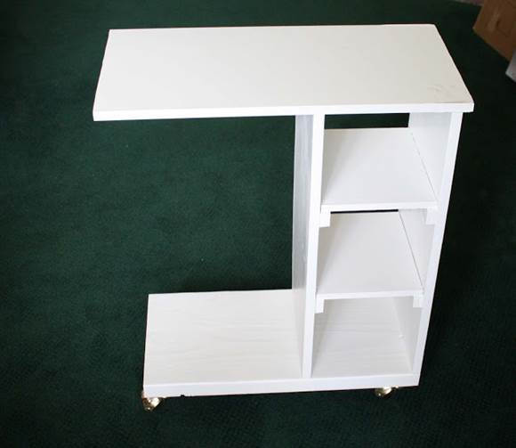How to DIY Creative Rolling End Table 2