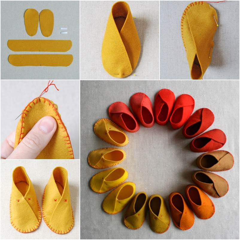 How To Make Felt Baby Shoes
