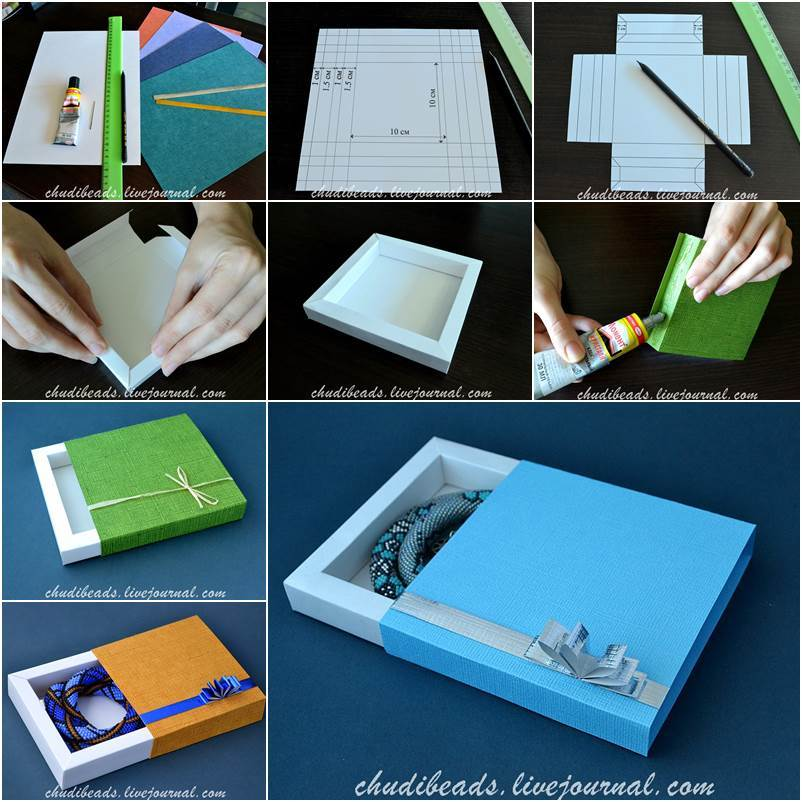 How to diy easy and pretty gift box negle Images