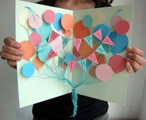 How To Diy Creative Happy Birthday Banner And Balloon Card