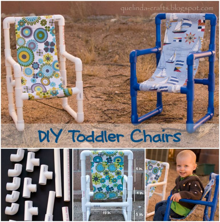 How to DIY PVC Pipe Toddler Chairs