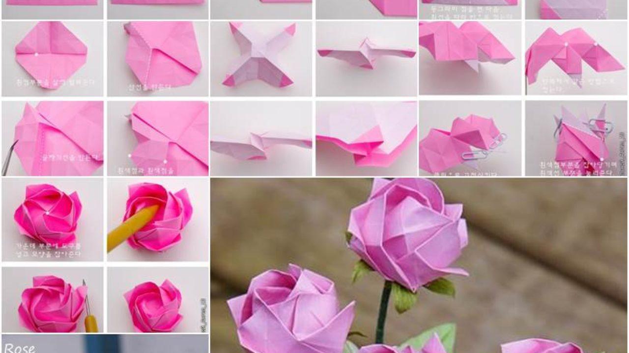 origami tutorial: Rose - YouTube | 720x1280