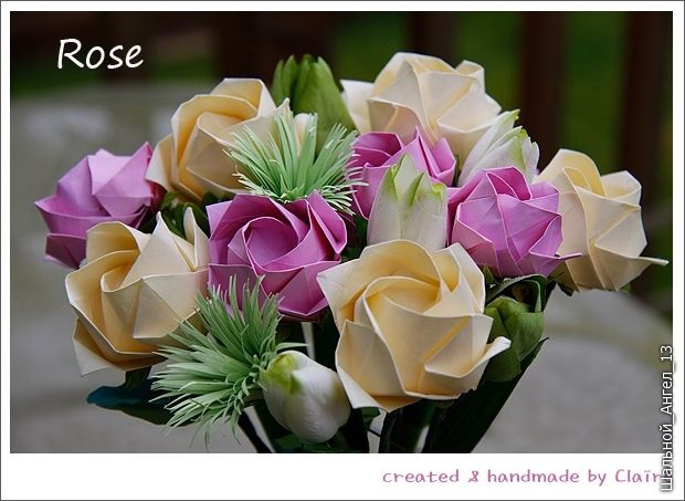 How to DIY Pretty Origami Rose - photo#34