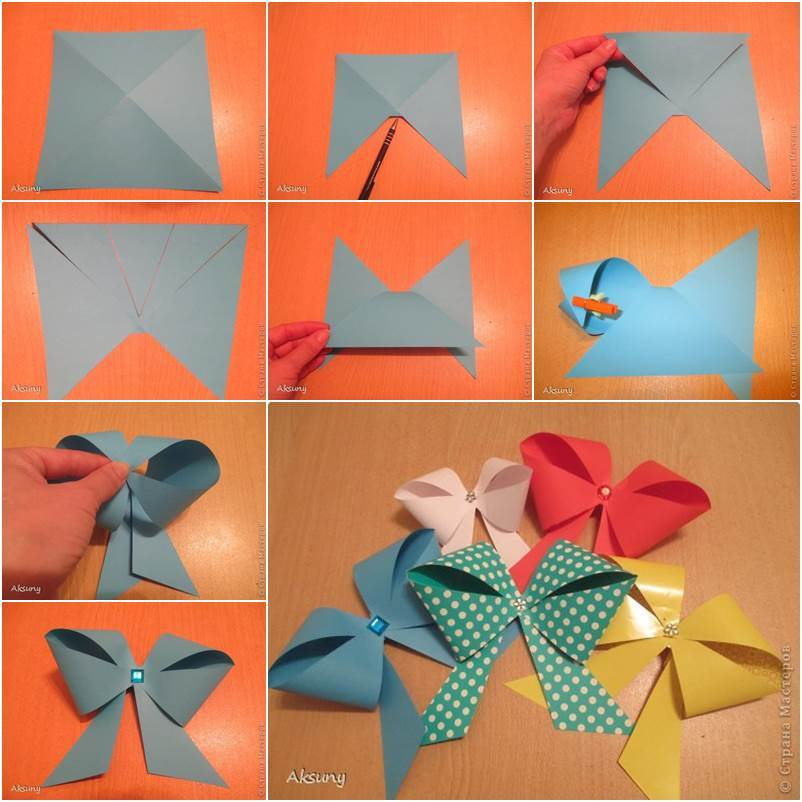 How To DIY Easy Paper Bow For Gift Packing