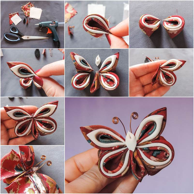 How to DIY Pretty Silk Ribbon Butterfly