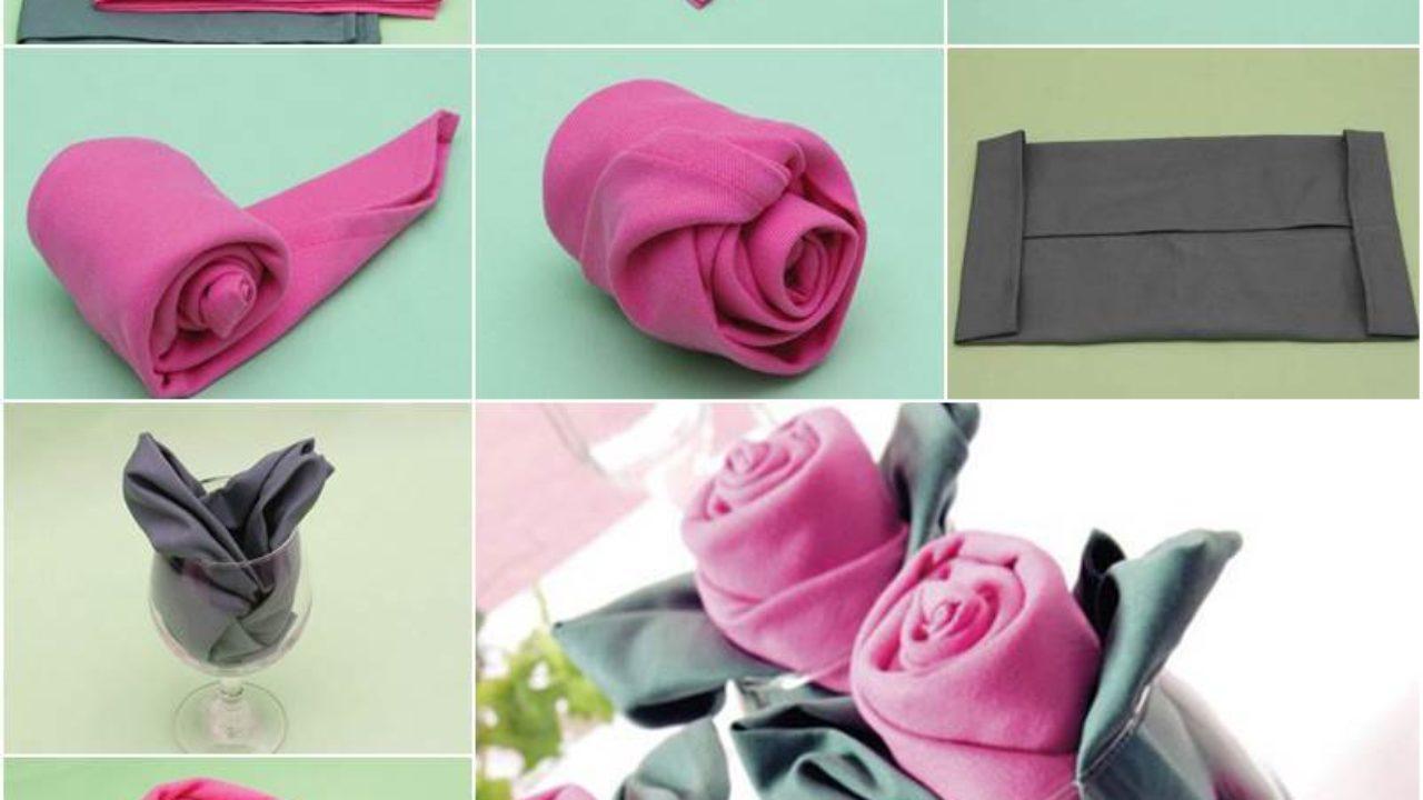 How To Diy Rosette Napkin Fold