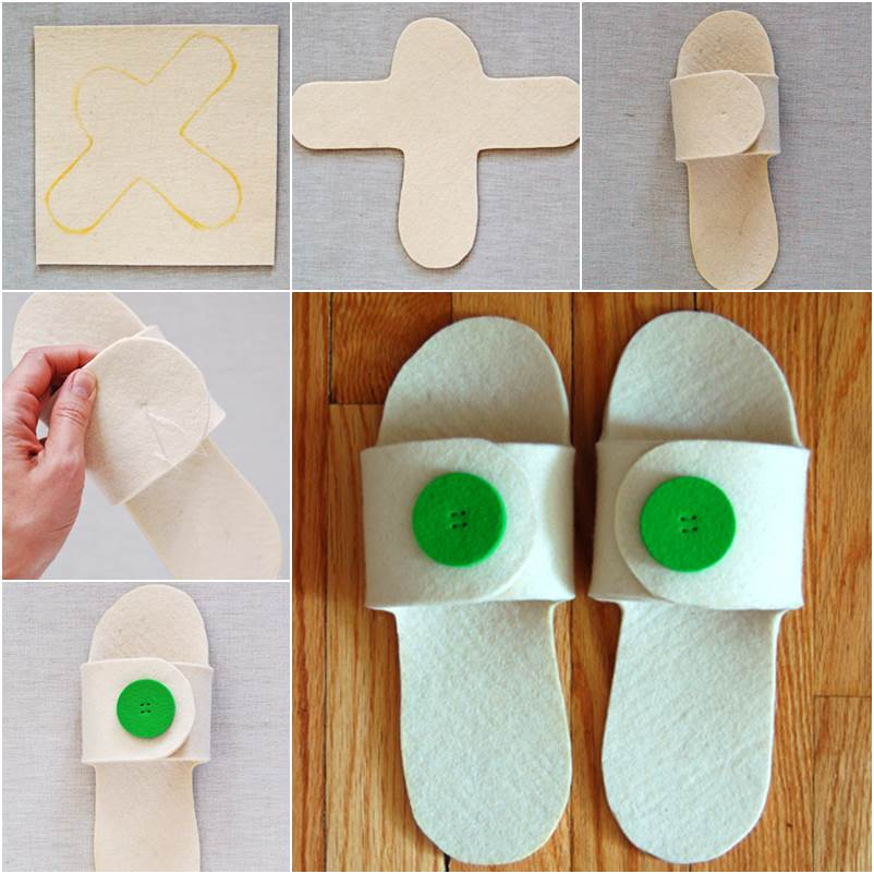 How To Diy Simple Felt Home Slippers