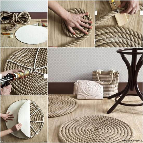 How to DIY Simple Rope Rug
